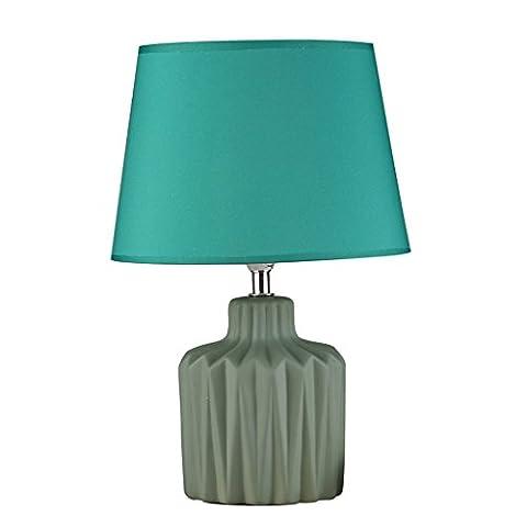 JIAHONG Personnalité de la mode européenne lampe de table à tablette de lit chaud, lampe de table en lin vert lampe de table
