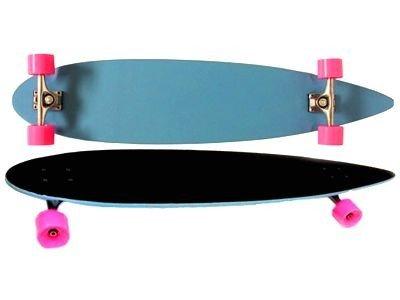Moose Longboard Komplettboard Skateboard Pintail Light Blue/Black Grip Complete Longboard 9,25' x 36'