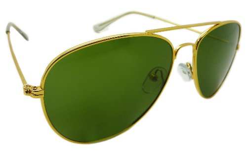 Classic Gold and Green Aviators
