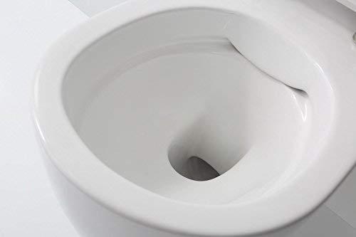 NEG Hänge-WC Uno11RK (Tiefspüler/randlos/kurz) Toilette ohne Unterspülrand mit Duroplast Soft-Close-Deckel und Nano-Beschichtung - 3