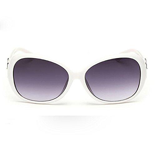 YEARNLY Mode Damen Herren Doppelring dekorative Sonnenbrille integrierte UV-Brille - ultra leichter Rahmen
