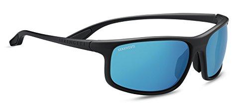Serengeti Eyewear Erwachsene Levanzo Sonnenbrille, Sanded Dark Grey, Medium/Large