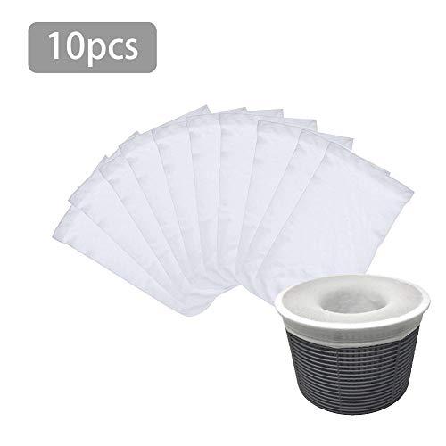 Ritapreaty Material de Nylon de Almacenamiento de Skimmer Calcetines con Filtro de Piscina para cestas...