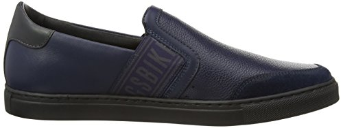 Bikkembergs Soccer Capsule 520 L.Shoe M Leather, Baskets Basses Homme bleu (Blue)