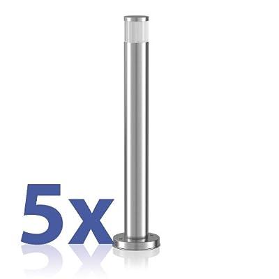 parlat LED Wegeleuchte Pillar aus Aluminium für außen, warmweiß, Ip54, ca. 50cm hoch, 5 Stück von LEDs Com GmbH - Lampenhans.de