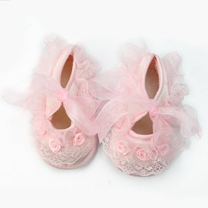 Cute Non-Slip Newborn Baby Lace Flower Shoes 0-3 Month