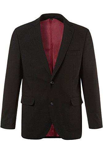 JP 1880 Herren große Größen bis 70 | Sakko | Anzug-Jacke in schwarz & blau | Blazer mit 2-Knopf Verschluss | Schnurwoll-Qualität | Gehschlitz | schwarz 28 705513 10-28 (Anzug Wolle Navy)