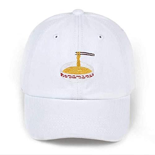 WUSYO Einstellbare Stickerei Baumwoll Baseball Mütze Baseballkappe, Weiss - Baseball-hüte ära Neue