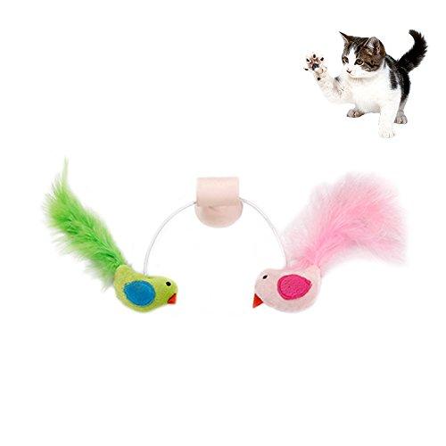 Petacc Katzenspielzeug | Lustige Katzenspielzeuge | Interaktives Katzenspielzeug,Mit Saugnapf und Eingebauter Glocke, Geeignet für Die Befestigung an Wand, Glas und Keramik