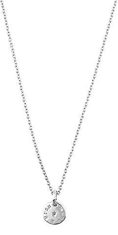 ESPRIT Damen-Kette mit Anhänger 925 Silber rhodiniert Zirkonia weiß Brillantschliff 40