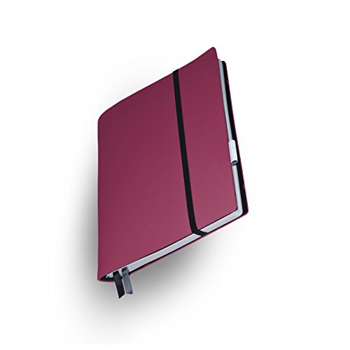 Whitebook Soft S213-ML, modulares Notizbuch, Veaux Prestige, geschnitten, Togo Rubis, 240 S. Papier FSC (iPad Mini & Samsung Tab 8
