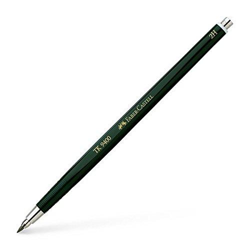 Faber-Castell 139412 - Fallminenstift TK 9400, Minenstärke: 2 mm, Härtegrad: 2H, Schaftfarbe: grün
