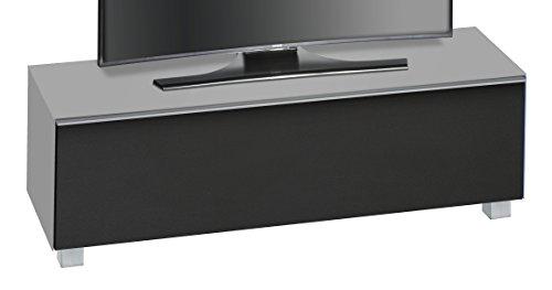 MAJA Möbel SOUNDCONCEPT Glass 7736 Soundboard Glas marmorgrau matt - Akustikstoff schwarz, Abmessungen (BxHxT):140,20 x 43,30 x 42 cm, 20 x 42 x 43,30 cm