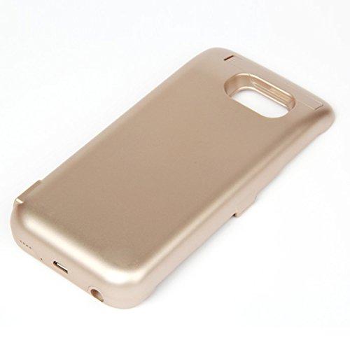fitmore Samsung Galaxy S6 Edge G9250 Ah Ultra dünnes Akku Case Hülle Handyhülle [Anti-Rutsch] [Stoßfest] Batterie Case eingebautem Akku für Samsung Galaxy S6 Edge G9250 Multi Power Battery Grip