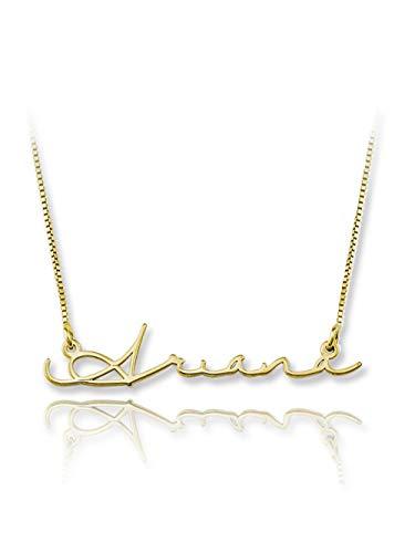 hjsadgasd Personalisierte Ursprüngliche Halskette Locke Halskette in Golden Silver