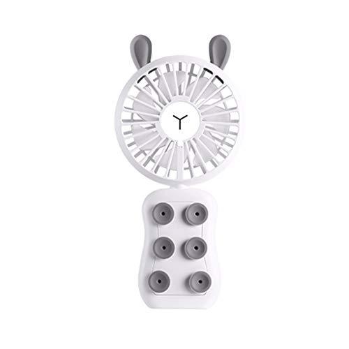 CAOQAO Mini ventilatore portatile ricaricabile, regolabile in 3 velocità, dimensioni: 57x78x28mm, 77g, uso oltre 6 ore, ventola di raffreddamento rotativa