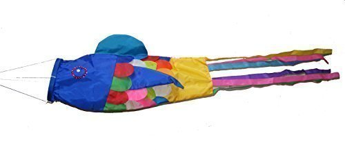 (Large Colourful Balinese Fish Wind Sock / Festival Flag / Tent Marker)