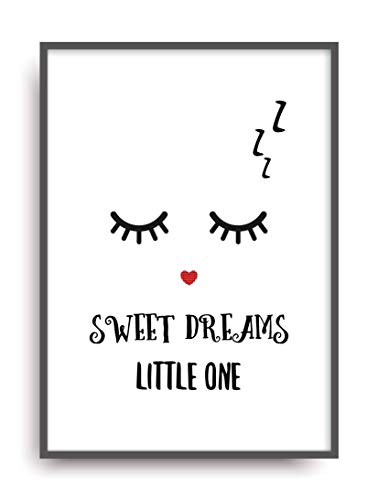 Kunstdruck SWEET DREAMS Poster Bild Plakat ungerahmt DIN A4 - Sweet Dreams Auge