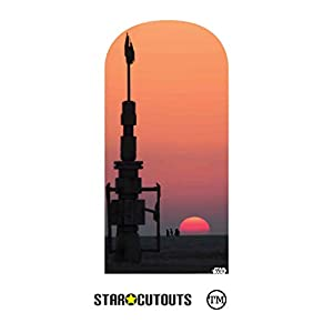 StarCutouts Ltd SC1459 Jakku - Fondo de telón de Fondo Brillante para Disfraces de Star Wars, cabinas de Fotos y Eventos, 184 cm de Alto, 90 cm de Ancho, Multicolor