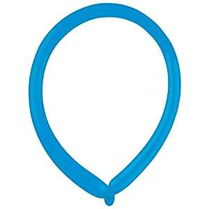 amscan 9905506 E160 - Globos de látex (100 Unidades), Color Azul