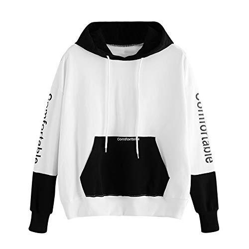 MEIbax Damen Hoodie Print Bequeme Sweatshirt Langarm Pullover Kapuzenshirt Sport-Pullover
