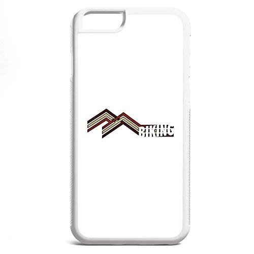 Smartcover Case Mountain Biking z.B. für Iphone 5 / 5S, Iphone 6 / 6S, Samsung S6 und S6 EDGE mit griffigem Gummirand und coolem Print, Smartphone Hülle:Samsung S6 EDGE weiss Iphone 6 / 6S weiss