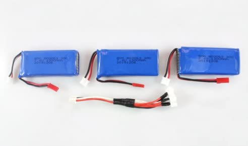 3 Batteries 25C 7.4V 1300mAh & Câble de de de Charge 3 en 1 pour MJX X101 | La Construction Rationnelle