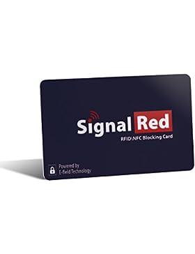 Protector de tarjetas de crédito – 1 sola tarjeta bloqueadora de RFID bloquea todas las señales RFID/NFC de tarjetas...