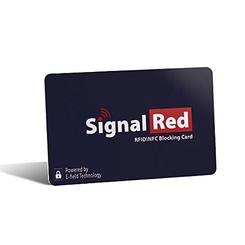 Protecteur de cartes de crédit – 1 carte anti-RFID pour bloquer tous les signaux RFID / NFC des cartes de crédit et passeports ; se range dans un portefeuille ou sac à main