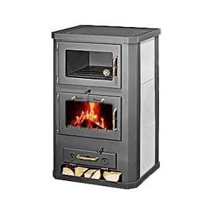 Estufa de leña con horno, modelo Komfort 21 KFT, salida de calor de 15kW, de marca Skladova Tehnika