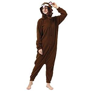 Katara- Pijamas Enteros Diferentes Animales y Tamaños, Adultos Unisex, Color Oso marrón, Talla 175-185cm (1744)