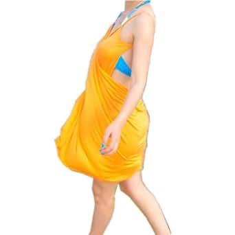 better.dealz - Sexy Robe de Plage Cover Up Femmes Cache Couverture pour Maillots de Bain Bikini Swimwear Paréo Sarong Party - TAILLE UNIQUE (Jaune)