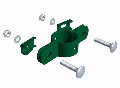 Preisvergleich Produktbild GAH-Alberts 563400 Doppelschelle, für Pfosten Ø 34 mm, grün