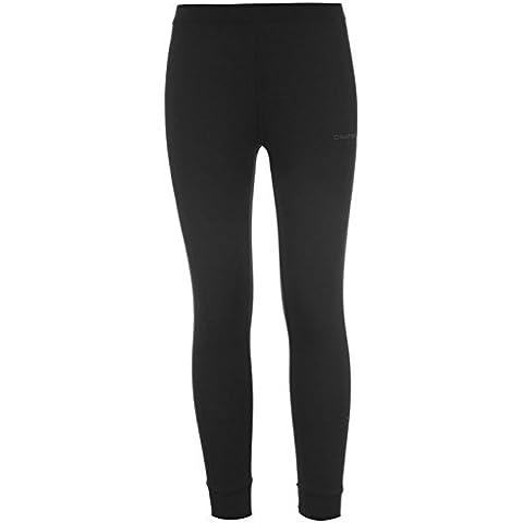 Campri para niños térmico deporte cálido pantalones capa Base pantalón largo para niño, negro, 5-6