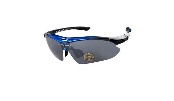 855cfbc786 Okaley Sunglasses 0089 With 5 Lens Protection Hunting Sunglasses Bike  glasses Cycling glasses  Amazon.co.uk  Clothing
