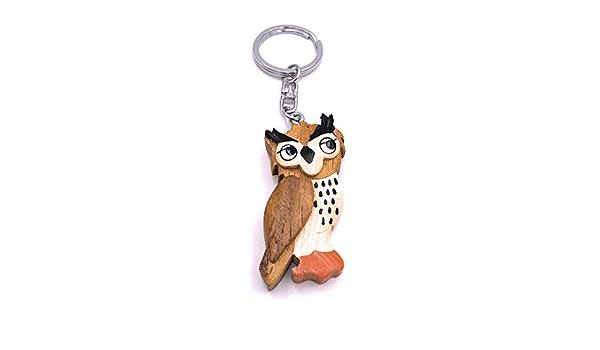 H Customs Sweet Owl Eule Adler Kautz Vogel Holz Edel Handmade Schlüsselanhänger Anhänger Spielzeug