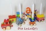Goki Geburtstagszug Zirkus Zahlen 1-10 inkl 10 weiße Kerzen Kindergeburtstag