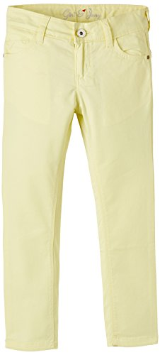 Gini & Jony Girls' Trousers (122145189640 1293_Powder Yellow_15-16 Years)