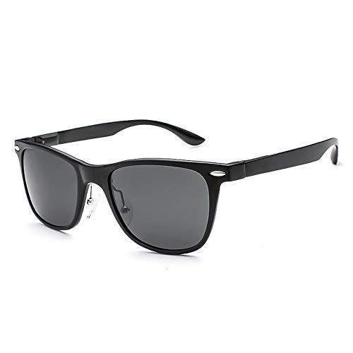 Easy Go Shopping Ultraleichte Aluminium Magnesium polarisierte Sonnenbrille Männer und Frauen Nagel Sonnenbrille Sonnenbrillen und Flacher Spiegel (Color : 01Gray, Size : Kostenlos)