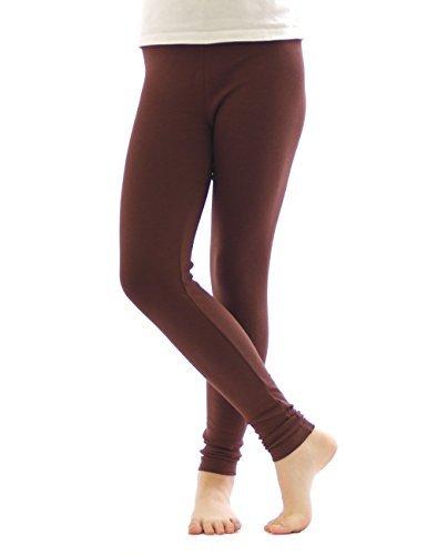 Thermo Leggings leggins Hose lang aus Baumwolle Fleece warm dick weich braun XXL
