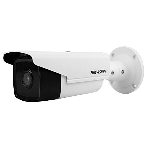 Intrusion Mini (HIKVISION DS-2CD2T85FWD-I5 8MP IP-Kamera (50m IR 12 VDC und PoE H.265 IP67 3D DNR Eingebaute SD Sot 128G Intrusion Detection) (4 mm))