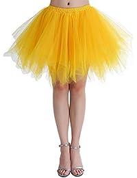 Karneval Damen 80er Puffy Tüllrock Tütü Röcke Tüll Petticoat (MEHRWEG)(MEHRWEG) bc99b9f9af
