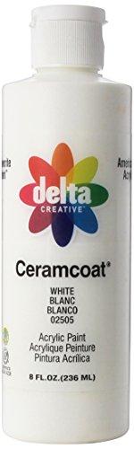 Plaid Delta Ceramcoat Peinture Acrylique 8oz-White - Semi-Opaques, d'autres, Multicolore