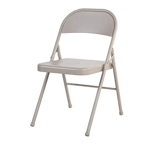 QIDI Chaise Pliante, Chaise de Bureau, Chaise Longue, métal, simplicité Moderne Dortoir Pliable, Facile à Nettoyer, Famille, Bureau - Deux Personnes chargées (Taille : Deux)