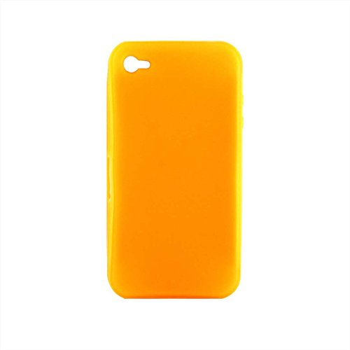 Luxburg® Crystal Design Schutzhülle für Apple iPhone 4S / 4 in Farbe Hellblau, Hülle Case aus TPU Silikon In-Colour Orange