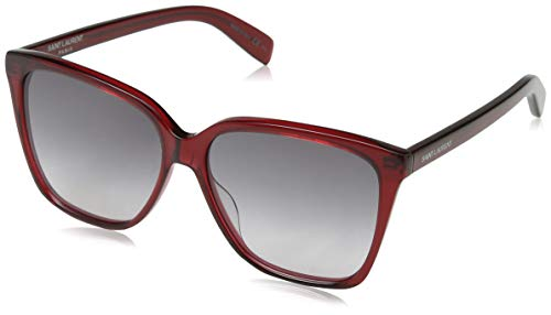 Saint Laurent Damen SL 175 003 56 Sonnenbrille, Burgundy/Grey,