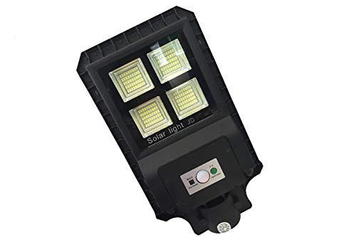 Projecteur lED lampadaire routière 90W Lumière froide Panneau solaire crépusculaire 9990Dr