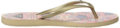 Roxy Bermuda, Sandales Plateforme femme Multicolore (GOLD/ESTATE BLUE)