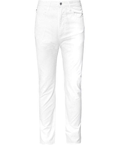 Emporio armani uomo j06 slim fit leggero twill tessuto jeans bianco ottico 48 regolari