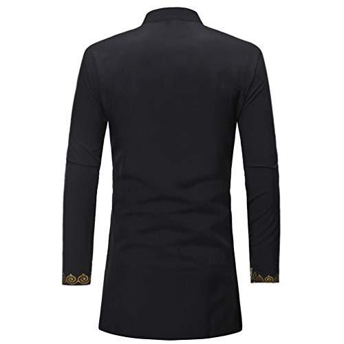 Imagen de wwricotta luckygirls camisetas para hombre camisa de manga larga lujo estampado de estilo nacional africano casual moda poleras polo remeras streetwear largo alternativa